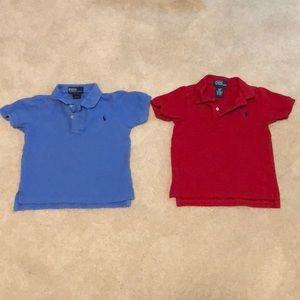 LOT 2 Ralph Lauren polo shirts size 24 months